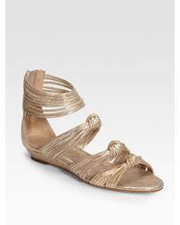 Loeffler Randall | Mignon Metallic Knot Detail Sandals | Lyst