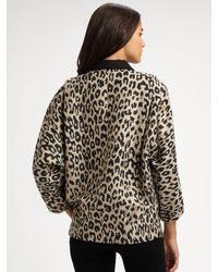 Loeffler Randall - Multicolor Leopard-print Double-breasted Coat - Lyst
