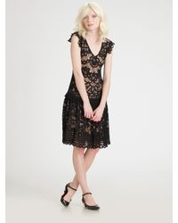 Marc By Marc Jacobs | Black Bronte Lace Dress | Lyst