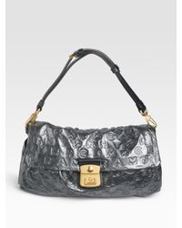 Marc By Marc Jacobs | Gray Dreamy Logo Linda Flat Bag | Lyst