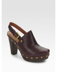 Marc By Marc Jacobs | Purple Slingback Clogs | Lyst