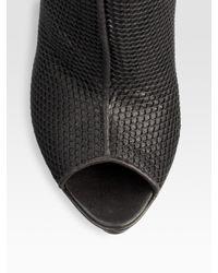 Max Kibardin - Black Open-toe Mesh Ankle Boots - Lyst