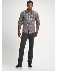 Michael Kors | Gray Grant-check Corporal Shirt for Men | Lyst