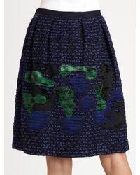 Oscar de la Renta - Blue Silk-faille Gown - Lyst