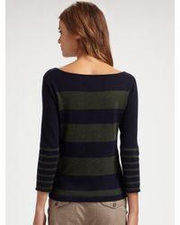 Rag & Bone - Blue Striped Boatneck Sweater - Lyst