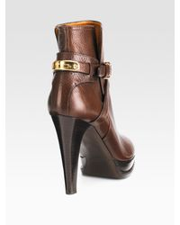 Ralph Lauren Collection | Brown Naima Ankle Boot | Lyst