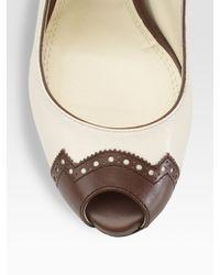 Ralph Lauren Collection - Brown Silk/cashmere Crewneck Sweater - Lyst