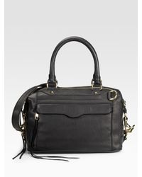 Rebecca Minkoff | Black Mab Mini Leather Shoulder Bag | Lyst