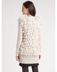 Rebecca Taylor - White Layered Ruffled Vest - Lyst