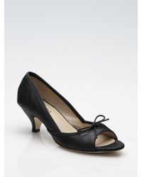 Repetto - Black Nicky Metallic Leather Open-toe Pumps - Lyst