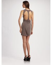 Richard Chai Love - Brown Open-back Dress - Lyst