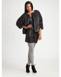 Tibi | Gray Faux Fur Short Coat | Lyst