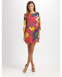 Tibi | Multicolor Silk Print Dress | Lyst