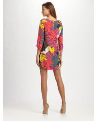 Tibi - Multicolor Silk Print Dress - Lyst