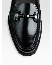 Tod's - Black Citta Doppia Patent Leather Loafers - Lyst