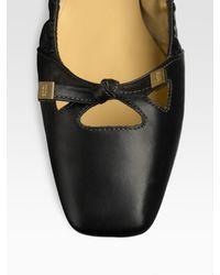 Tod's | Black Degas Leather Ballet Flats | Lyst