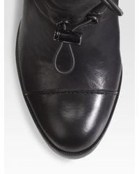 Tory Burch - Black Trisha Drawstring Ankle Boots - Lyst