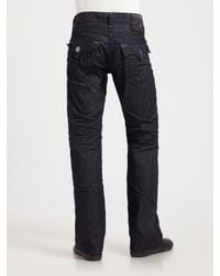 True Religion - Blue Billy Super T Bootcut Jeans for Men - Lyst