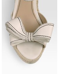Valentino - White Couture Bow Espadrille Wedges - Lyst