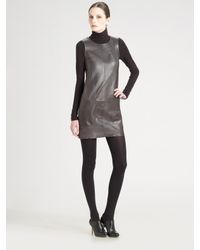 Vince | Metallic Laser Cut Leather Jumper | Lyst