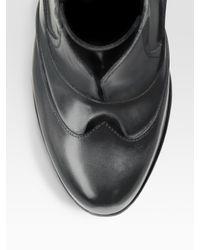 Saint Laurent - Black Contrast Cotton Poplin Shirt - Lyst