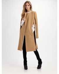 Alexander Wang | Natural Nubby Wool Coat-cape | Lyst
