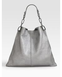 Badgley Mischka | Metallic Pebbled Leather Hobo | Lyst