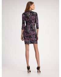 Catherine Malandrino - Black Knotted Silk Jersey Dress - Lyst