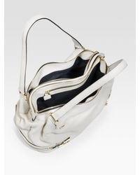 Chloé - White Cary Large Leather Shoulder Bag - Lyst