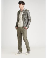 Converse | Metallic Crinkled Leather Jacket for Men | Lyst