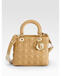 Dior | Natural Lady Medium Top Handle Bag | Lyst