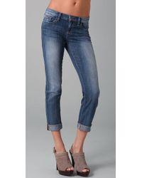 Joe's Jeans | Blue Cuffed Cigarette Jeans in Elizabeth Wash | Lyst