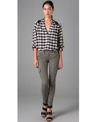 Joe's Jeans - Gray Chelsea Twill Ankle Pants - Lyst