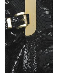 MICHAEL Michael Kors - Black Python-effect Patent-leather Tote - Lyst