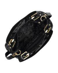MICHAEL Michael Kors | Black Python-effect Patent-leather Tote | Lyst