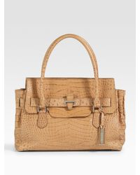 Michael Kors | Natural Gia Large Leather Top Handle Bag | Lyst