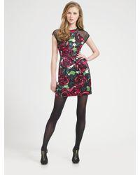 Nanette Lepore - Purple Daring Rose Dress - Lyst