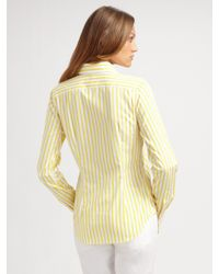 Ralph Lauren Black Label | White Ricky Stripe Button Front Shirt | Lyst