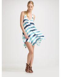 Splendid | Blue Asymmetrical Hem Tank Dress | Lyst