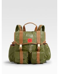 Tory Burch | Green Tierney Nylon Backpack | Lyst