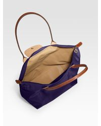 Longchamp - Brown Le Pliage Large Nylon Tote - Lyst