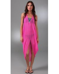 Mara Hoffman - Pink Embroidered Dashiki Cover Up - Lyst