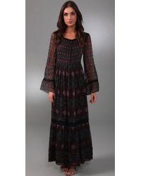Philosophy di Alberta Ferretti | Black Long Sleeve Maxi Dress | Lyst