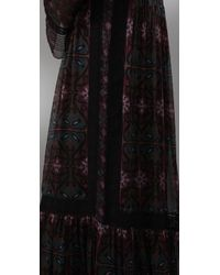 Philosophy di Alberta Ferretti - Black Long Sleeve Maxi Dress - Lyst