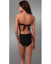 Rosa Cha - Black Solid Draped Bikini Top - Lyst