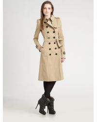 Burberry Prorsum | Natural Double-breasted Trenchcoat | Lyst
