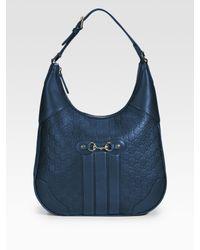 Gucci | Blue Cathrine Ssima Medium Hobo | Lyst