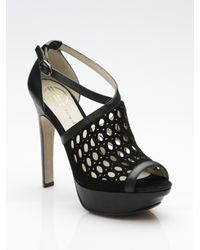 House of Harlow 1960 - Black Peep-toe Sandals - Lyst