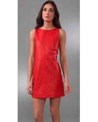 Jenni Kayne - Red Mini Shift Dress - Lyst