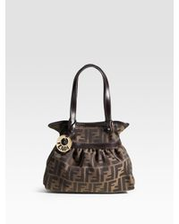 Fendi | Brown Mini Chef Mini Shopper Bag | Lyst